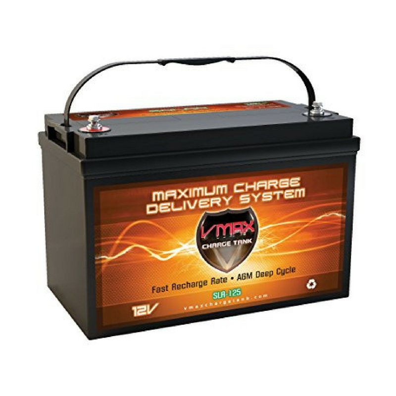 Like the panels and inverter, the battery has stored enough energy to last me some cloudy days so far. I chose this battery over others because of the fact that it doesn't have any free roaming fluids like lead acid batteries do, which can be dangerous. I think.