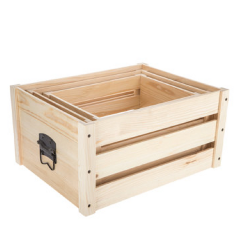 I bought the largest size of this crate and use it to store my non-refrigerated food.