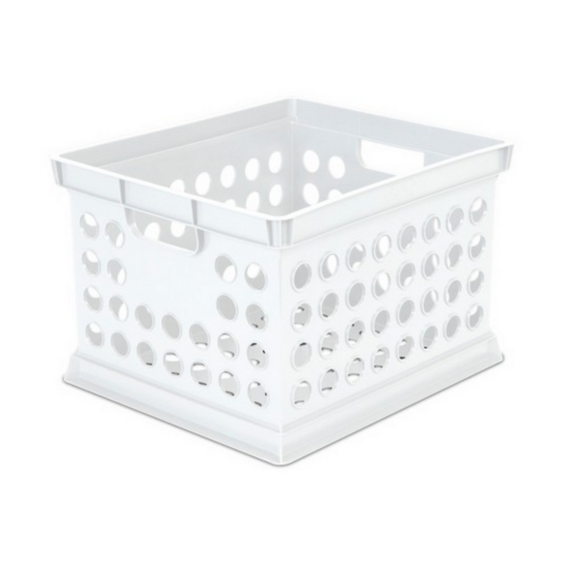 I have 3 of these under my bed in the back which I store a bunch of random things in that I don't use as often- they're nice because they're wayy less expensive than the other crates I got haha.