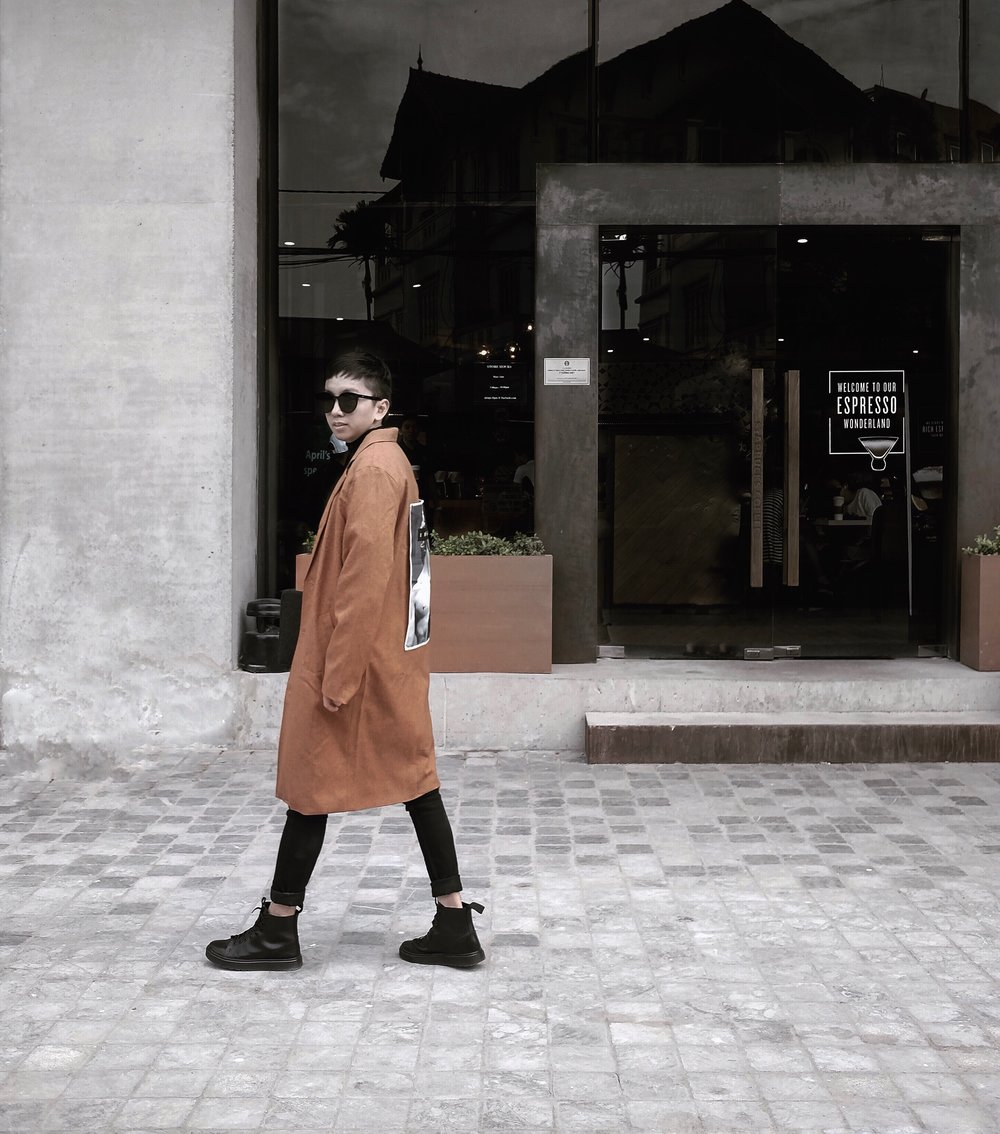 Jacket and Tee by  Blanke  Pant by  Topman Vietnam  Boots by  Dr.martens Hoang Phuc  Sunglasses by  Be CLUB