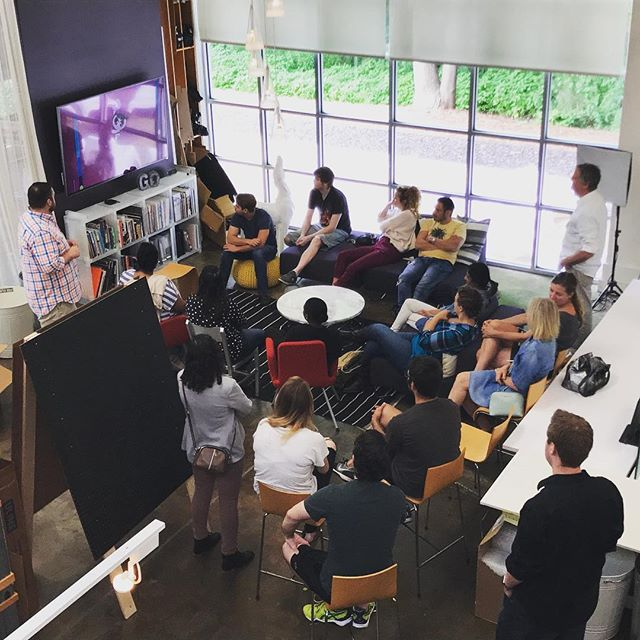 Thank you @creativecircus students for visiting our ATL Studio this morning to hear about experience design.