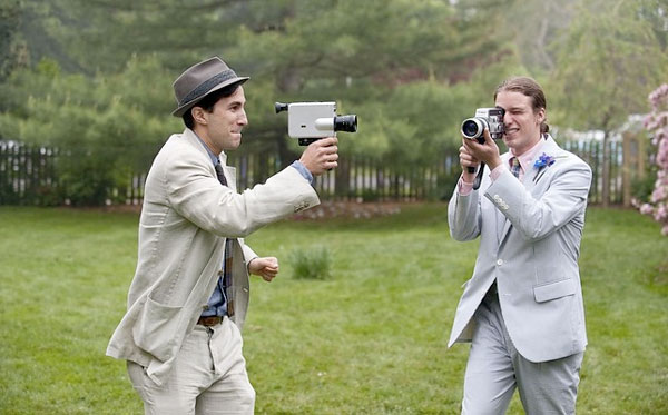 Shooting Super 8 film at a wedding.