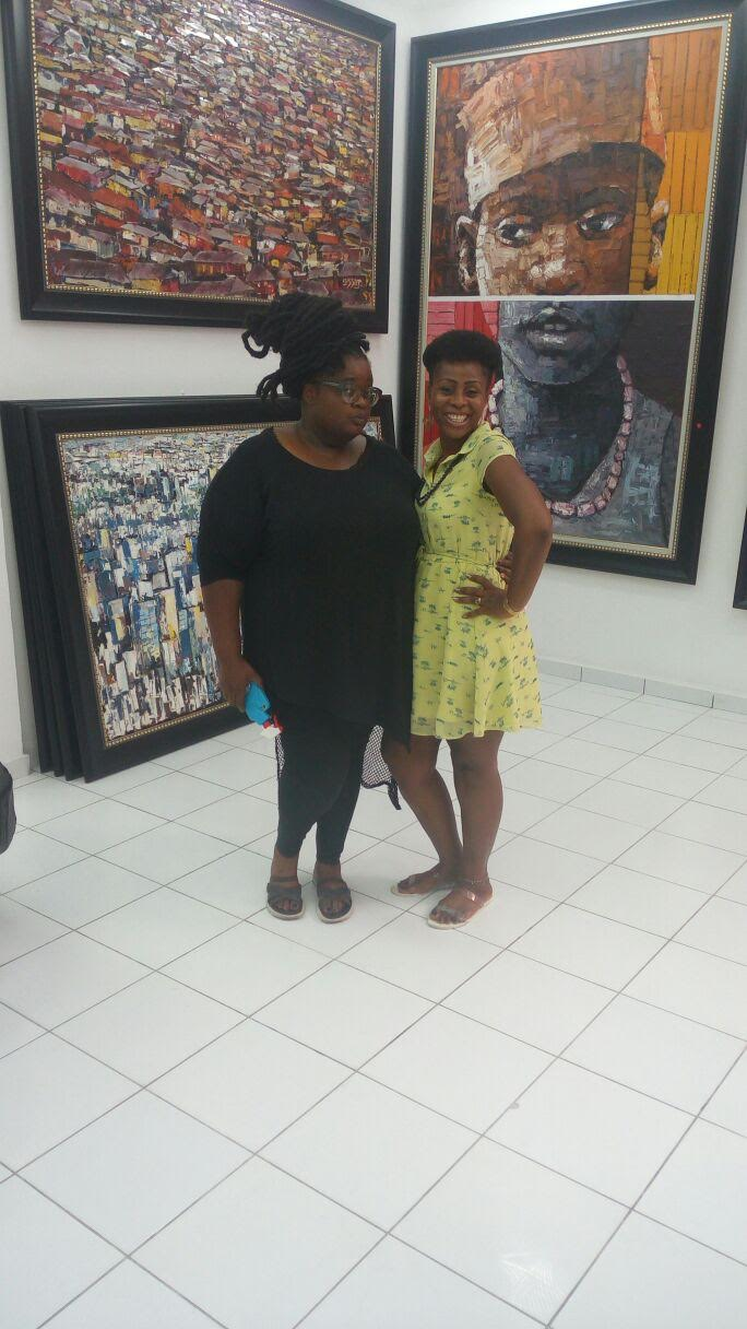 Angie (Coordinator of The Eleventh Fashion Show) and Designer Tasha (Me) at Nike Art Gallery in Lagos,Nigeria