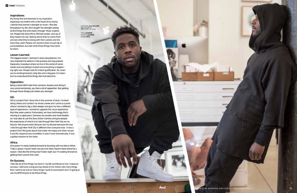 Nigel Sylvester wearing 4 Leaders (Heed Magazine)
