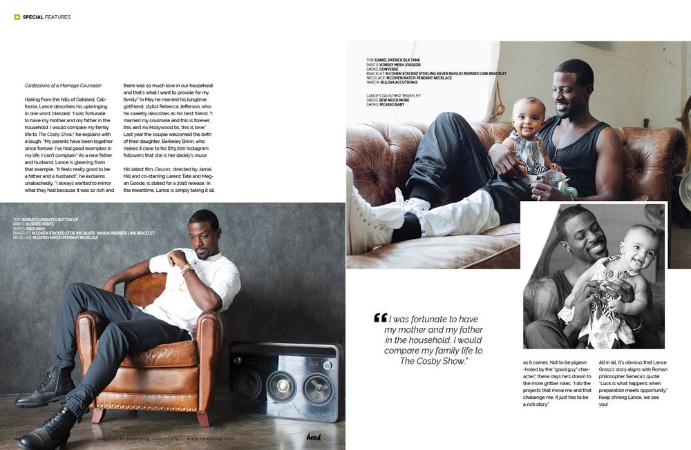Lance Gross wearing VonRay Designs and Babygirl Wearing Sew Much More by Kathy Green