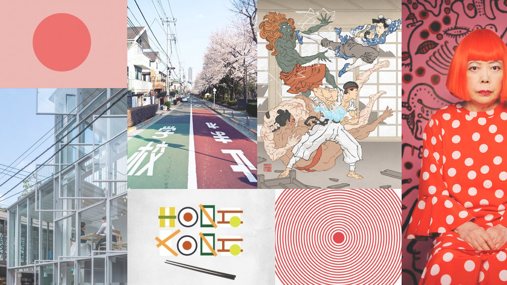 JapanMood #moremood #moodboard #color #japan #flag #yayoikusama #tokyo #manga #red
