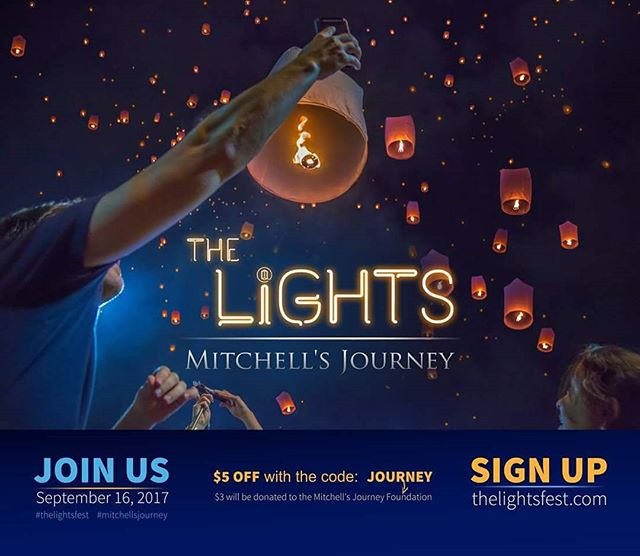 When you sign up using code JOURNEY, you save $5 on admission and $3 is donated to Mitchell's Journey. Will you join us?  #LightsFestival #MitchellsJourney #Utah