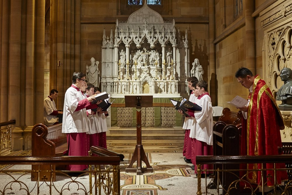The Cathedral Scholars sing Vespers in the Chapel of the Irish Saints