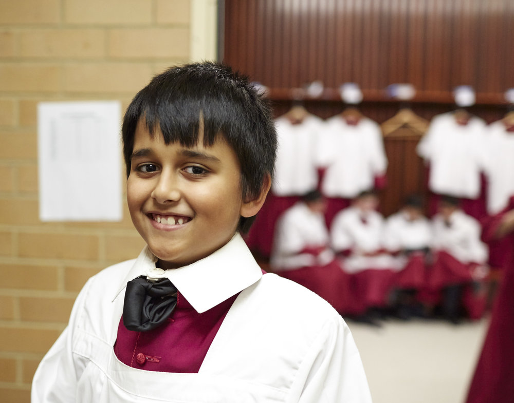 A Chorister in Robes at St Mary's Cathedral, Sydney
