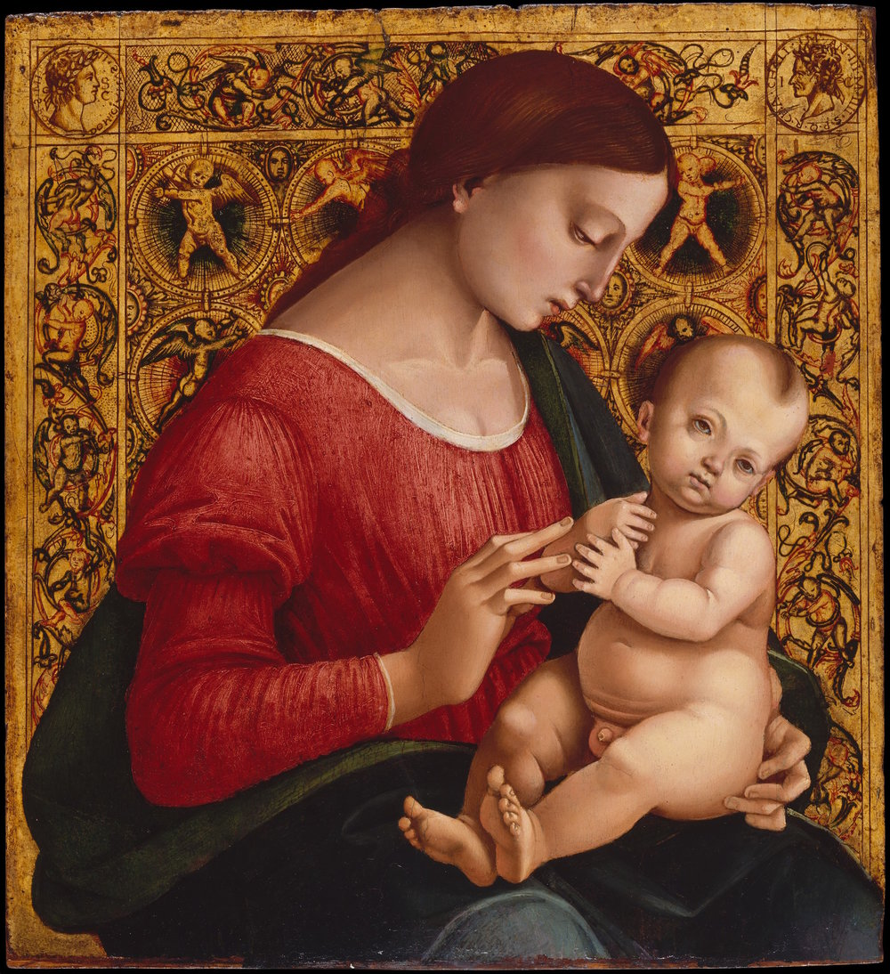 Luca Signorelli (active 1470, d. 1523), Madonna and Child, Metropolitan Museum of Art, New York.