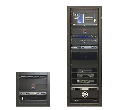 Our audio visual control racks are designed specifically for each restaurant location.