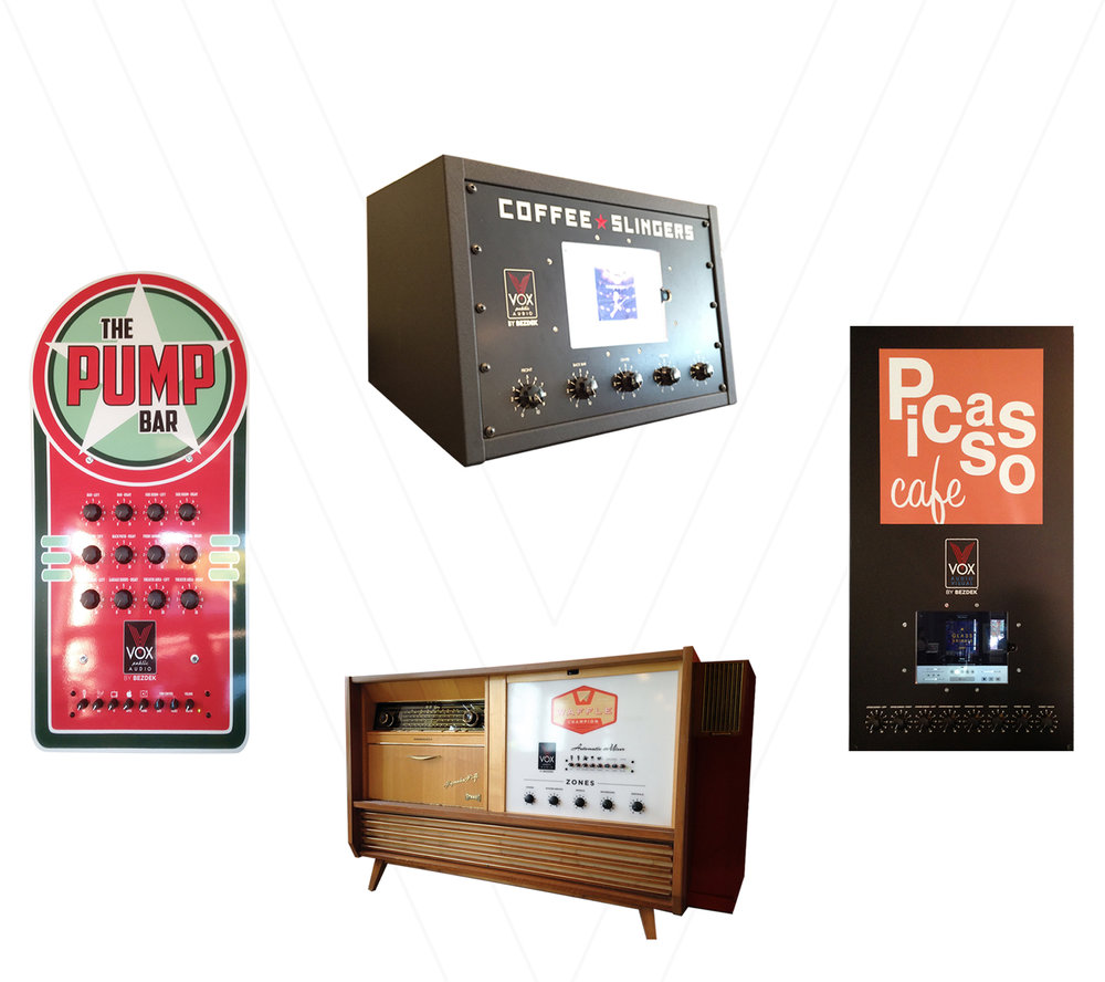 Custom designed audio visual control panels for Restaurants and Public Houses