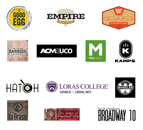 Our clients include Kamps, Broadway 10, A Good Egg and University of Central Oklahoma