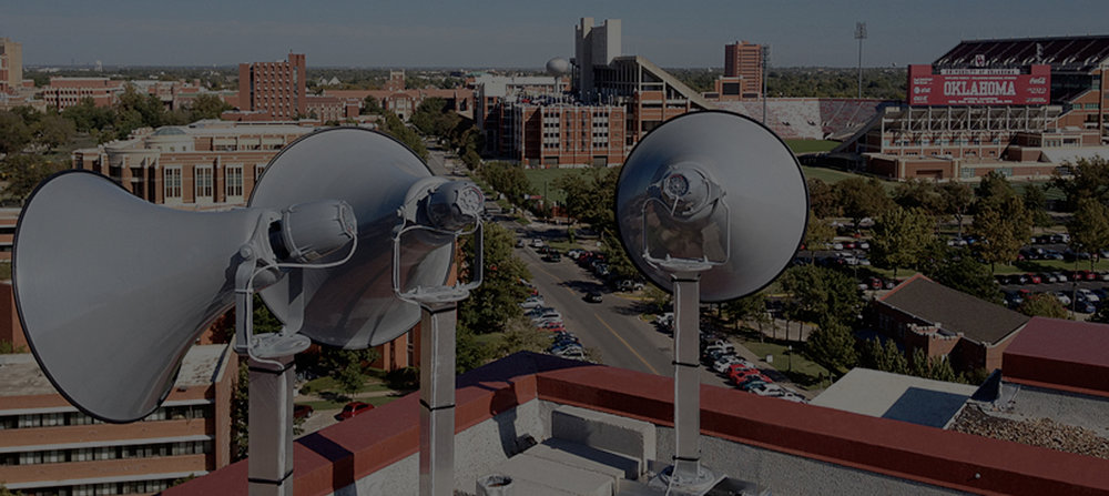 Mass notification system design and installation for the University of Oklahoma