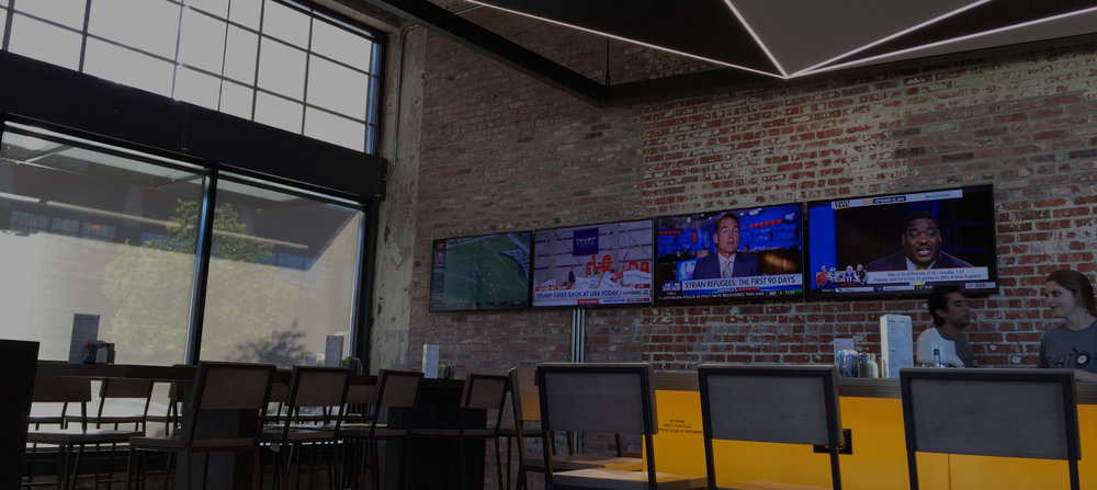 Audio visual control systems for restaurants in Oklahoma City, Edmond, Moore and Tulsa