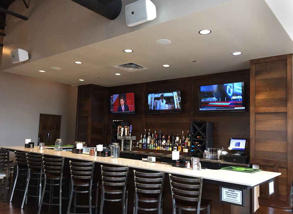 Audio, Visual and Control Systems for Restaurants - Kamp's 1910,  Edmond, OK