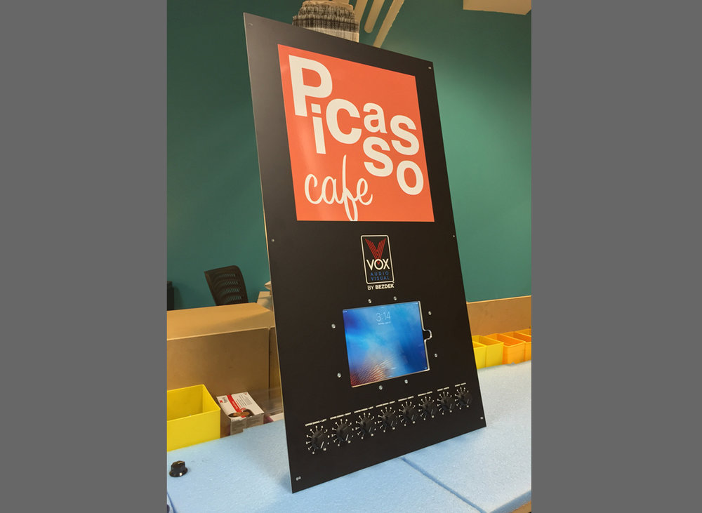 Custom Audio Visual Control Panel fabrication  - Picasso Cafe, Oklahoma City, OK