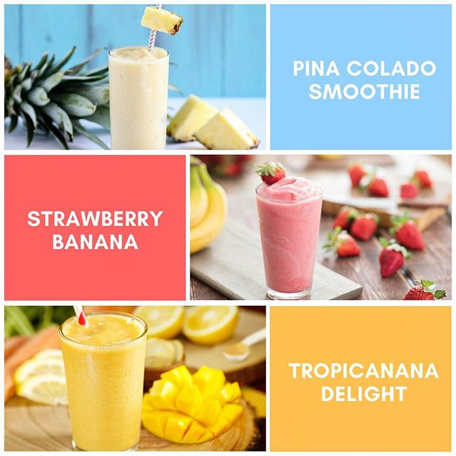 Did know we have dairy-free smoothies at our shop? Get this… Pina Colada Smoothie! Strawberry Banana Smoothie & Tropicanana Smoothie, which features the amazing #jackfruit... OMG!