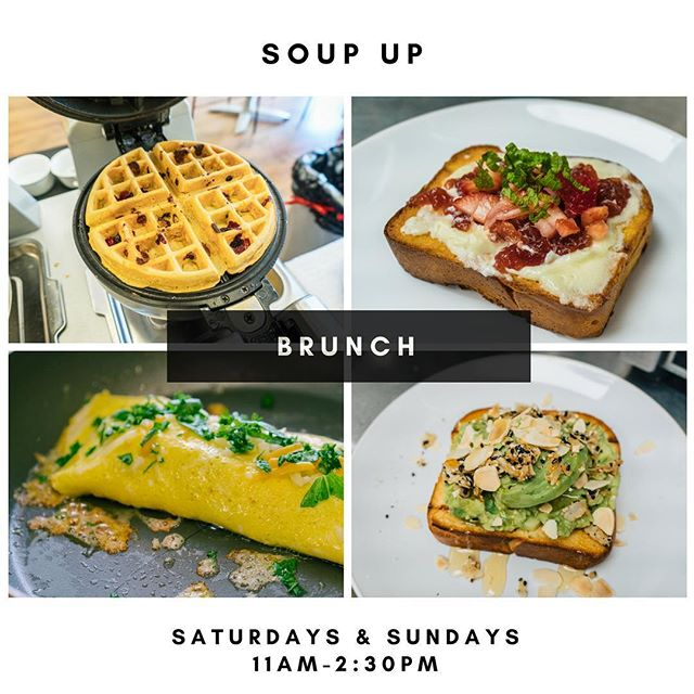 If you're staying in town this weekend, come join us for brunch! Freshly #waffles, #omelettes and many more!
