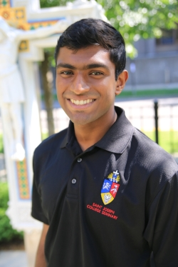 Goodwin Francis, 1st-year seminarian from the Syro-Malabar diocese
