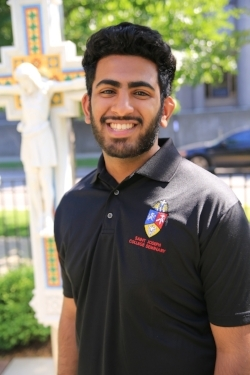 Aby Abraham,   1st-year seminarian from the Syro-Malabar diocese