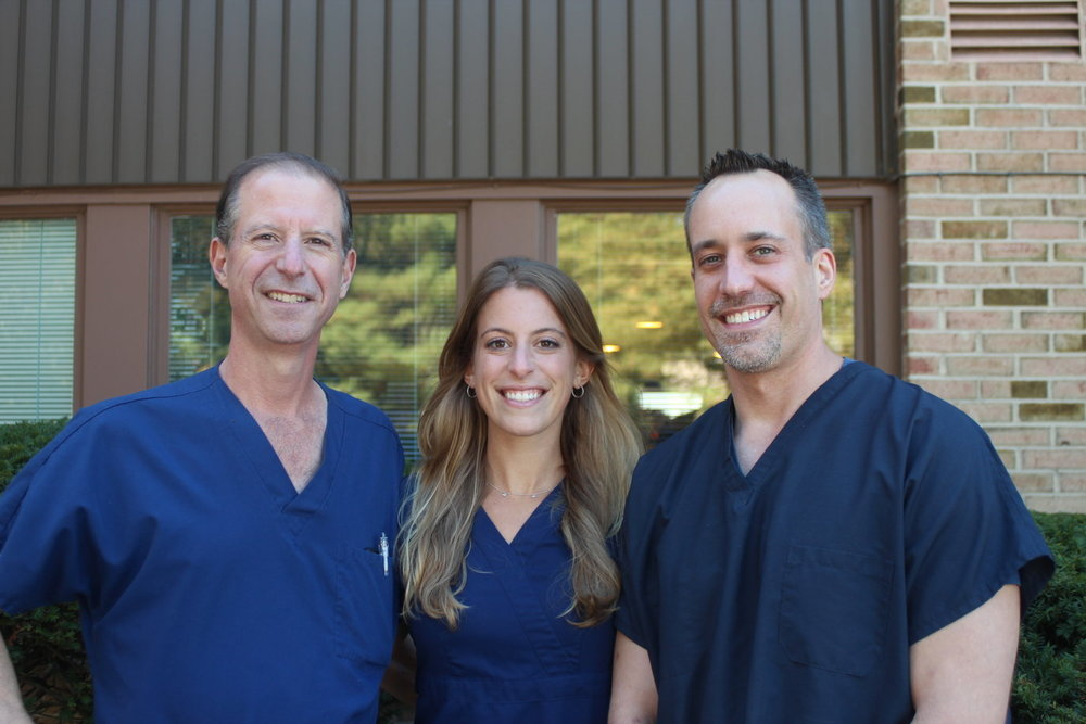 From left to right: Dr. Richard Rifkin, Dr. Allison Rifkin, and Dr. James Martyniak