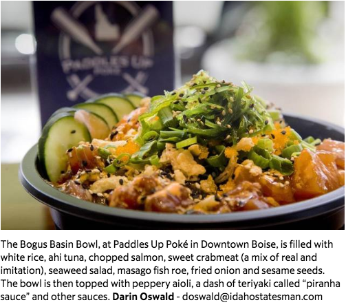 New poké restaurants specialize in Hawaiian fish dish. Paddles Up wins! - Based on my positive experience here, it appears that Paddles Up Poké is poised for a long run.Click HERE full article and food review.