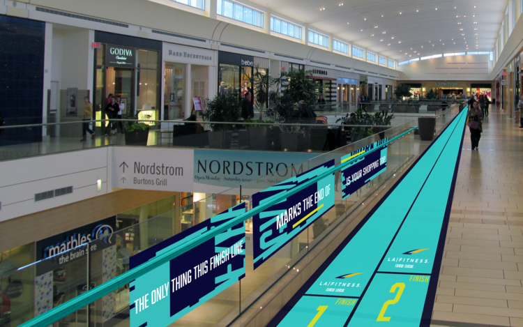 THE ONLY THING THIS FINISH LINE MARKS THE END OF, IS YOUR SHOPPING TRIP.