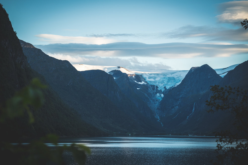 During the extended summerseason you´ll find us in the inner end of Oldedalen valley, under the glacier and waterfall.