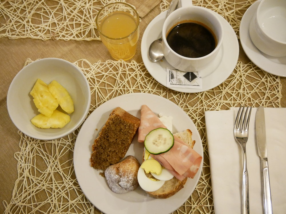 Il Convento Hotel Naples breakfast plate.jpg