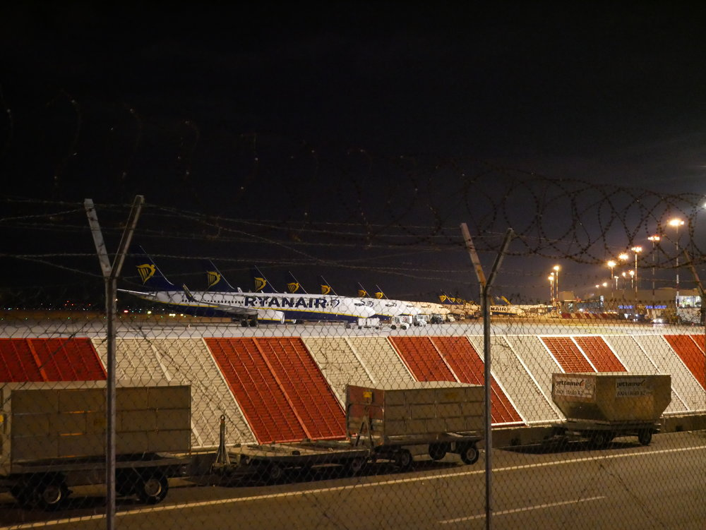 Bergamo Airport at night close.jpg