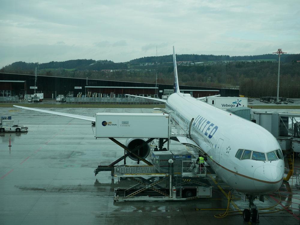 United 767-400 Zurich