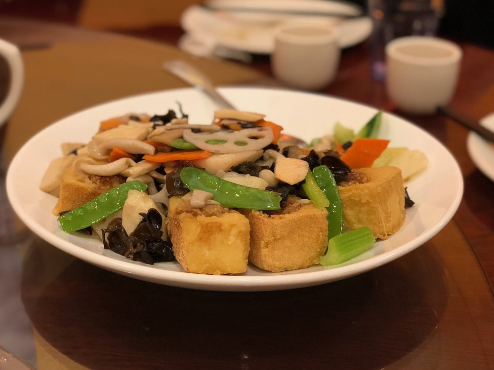 Bodhi stuffed tofu