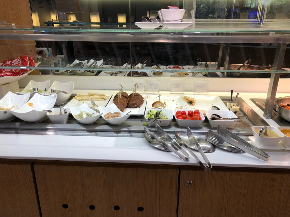 EWR Senator Lounge cold buffet