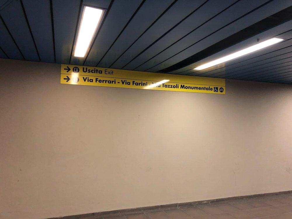 AC Hotel Milano tunnel to Garibaldi