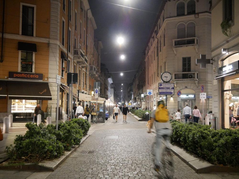Milan Chinatown street