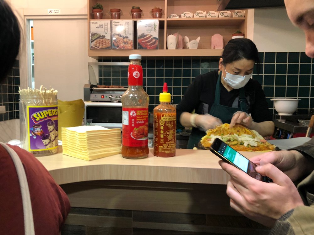 Milan Chinatown Foodie making food