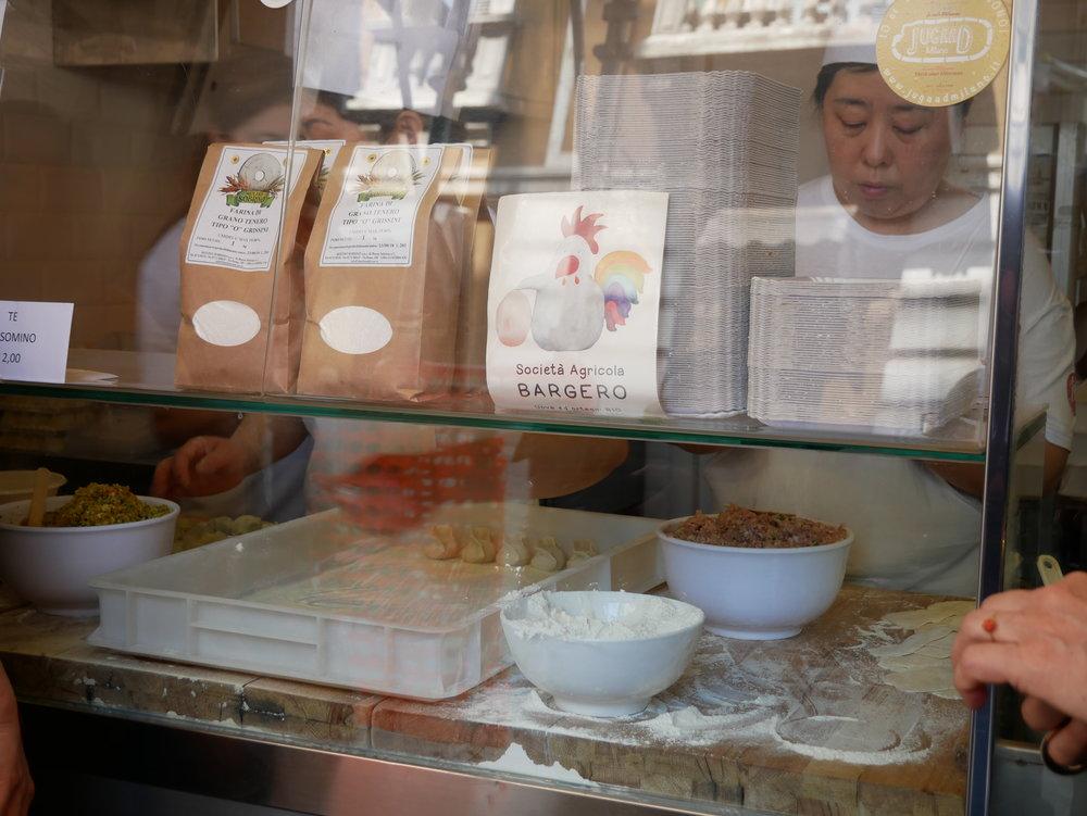 Milan Chinatown making dumplings