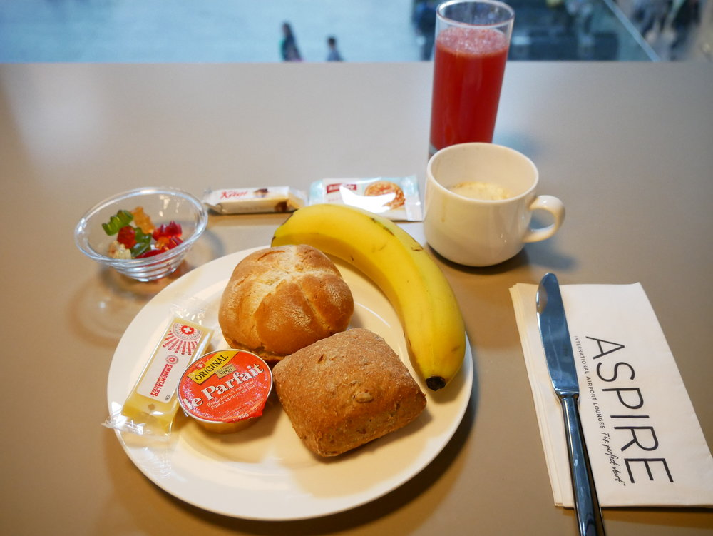 Aspire lounge food