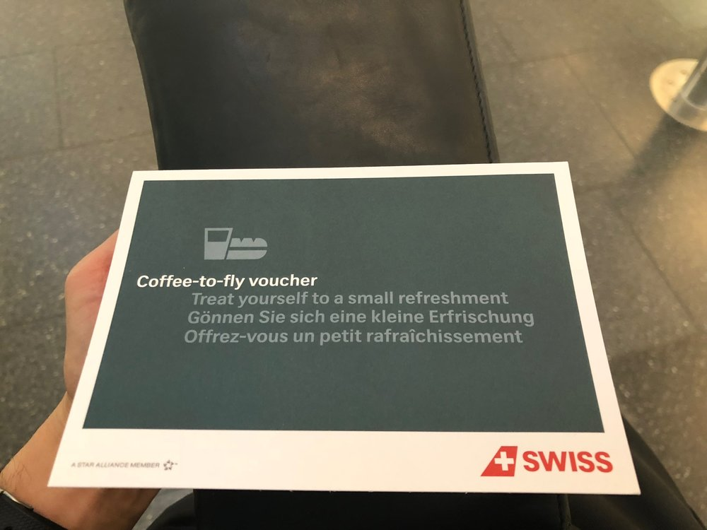 Coffee to fly voucher outside