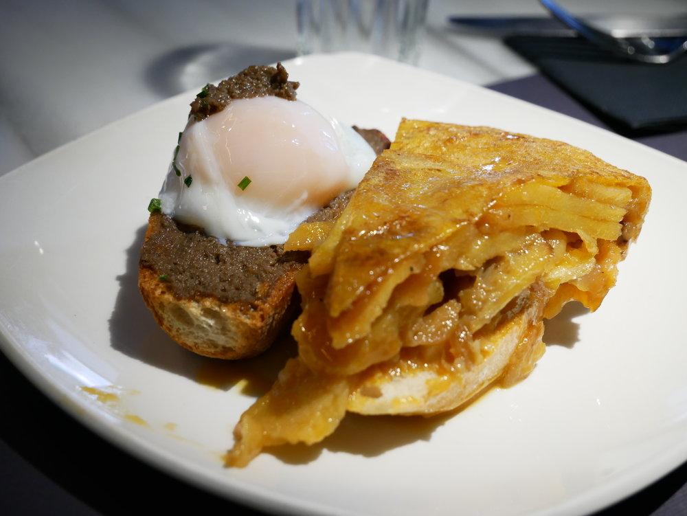 Juana la Loca tortilla and truffled egg