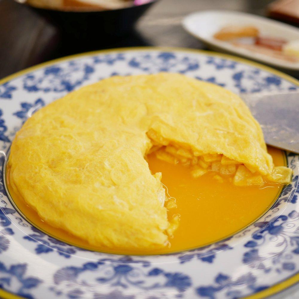 Taberna Pedraza tortilla cut open