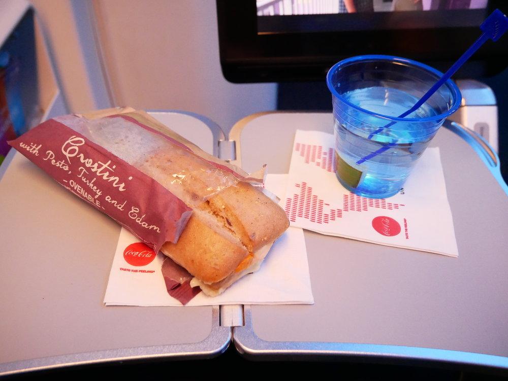 United Economy pre-arrival sandwich