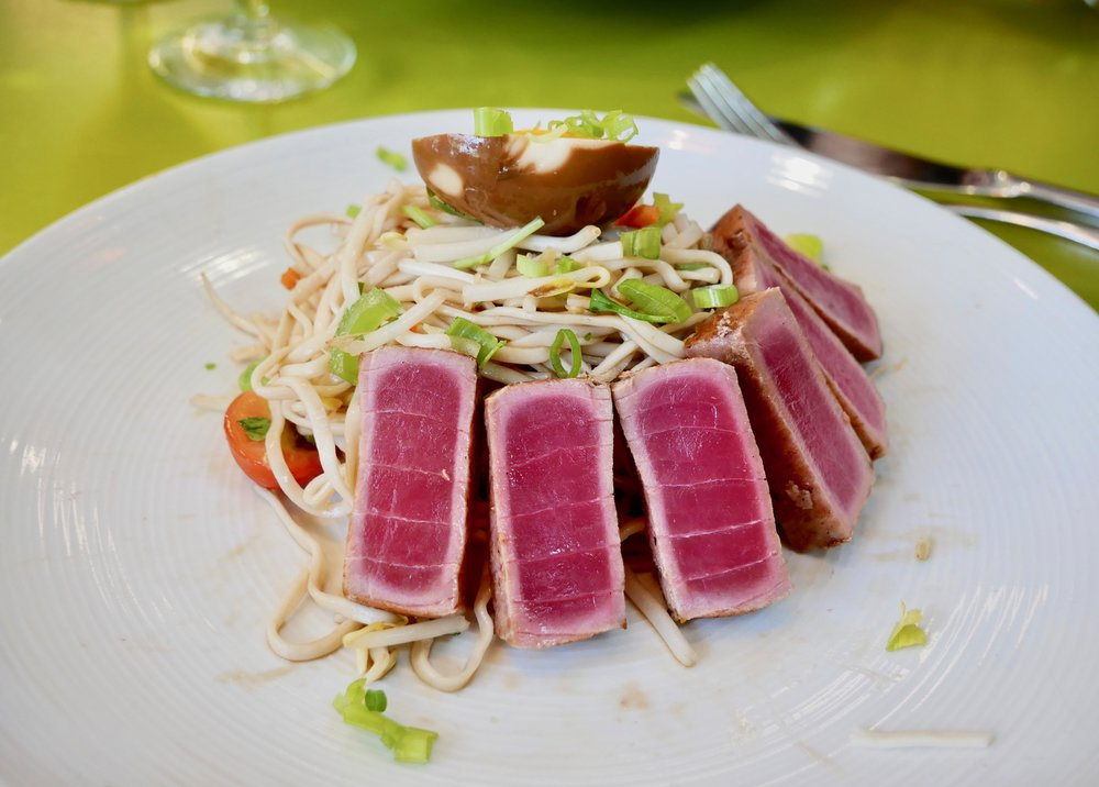 UCSD The Bistro seared ahi and noodle salad
