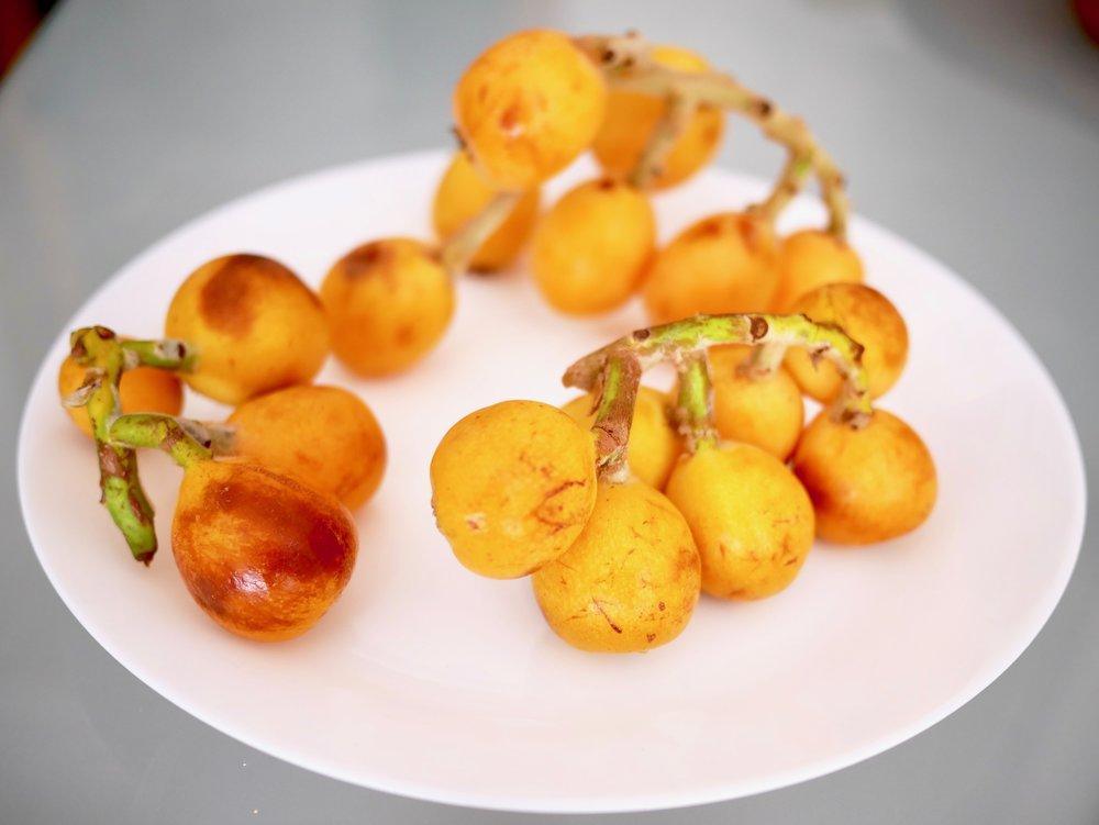 Small nisperos on plate