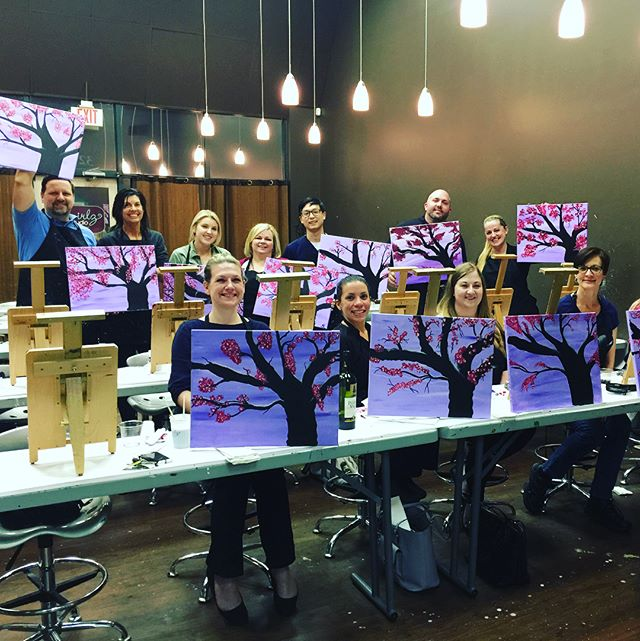 Great day with the work team at Swirlz Art Studio! We love our neighbors #rossviewdental #loveyoursmile