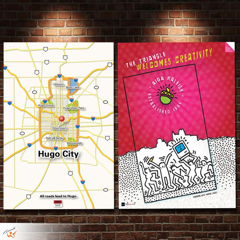 Hugo Boss & AIGA Raleigh posters