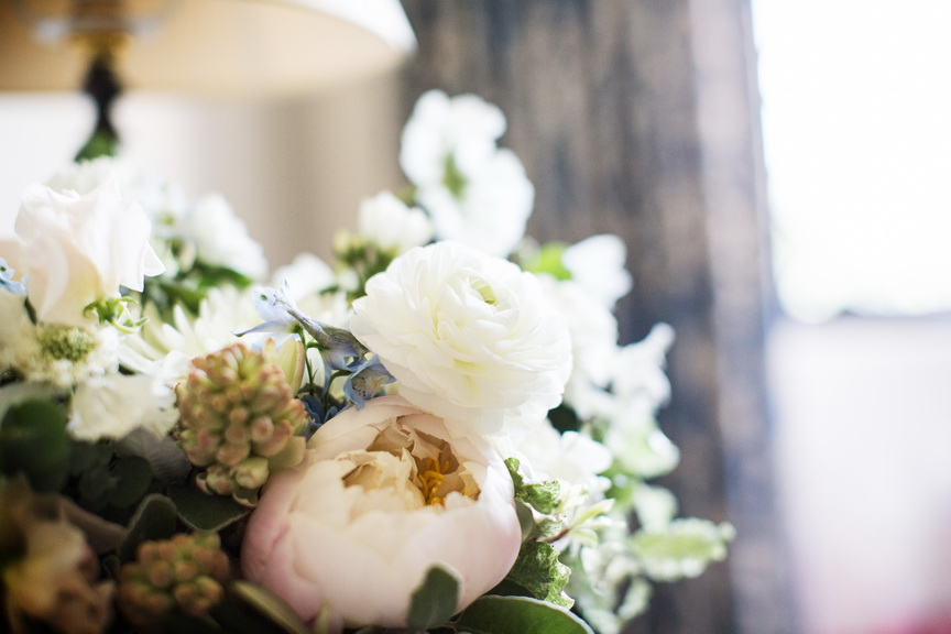 Elegant blush wedding at Stowe House