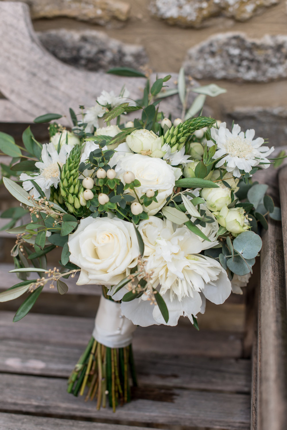Green and white barn wedding