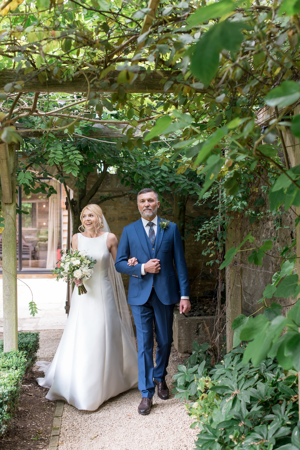 Green and white wedding at Tythe Barn